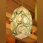 [한지등] 모던팬던트[초록솜사탕]-대각선 사이즈