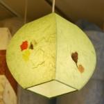 특가 [한지등] 단지팬던트[연두색민속무늬]-대각선 사이즈