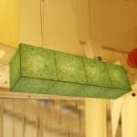 [한지등] 직사각팬던트[녹색한지]