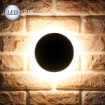 LED 3072 원형 외부벽등 9W (다크그레이/블랙)