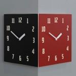 Morden Retro Corner Clock (Black&Red)