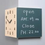 Blackboard Corner Clock