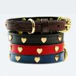 클래식 하트(Heart) 강아지 가죽 목줄(XS,S,M,L,XL,XXL)가격:45,000원