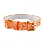 강아지 목줄 - 파스텔 가죽목줄 오렌지(XS,M,L,XL,XXL)가격:15,000원